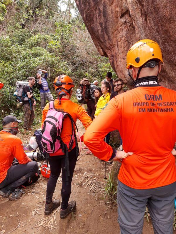Cinco pessoas foram resgatadas pelo GRM no Monte Crista – Foto: GRM/Divulgação