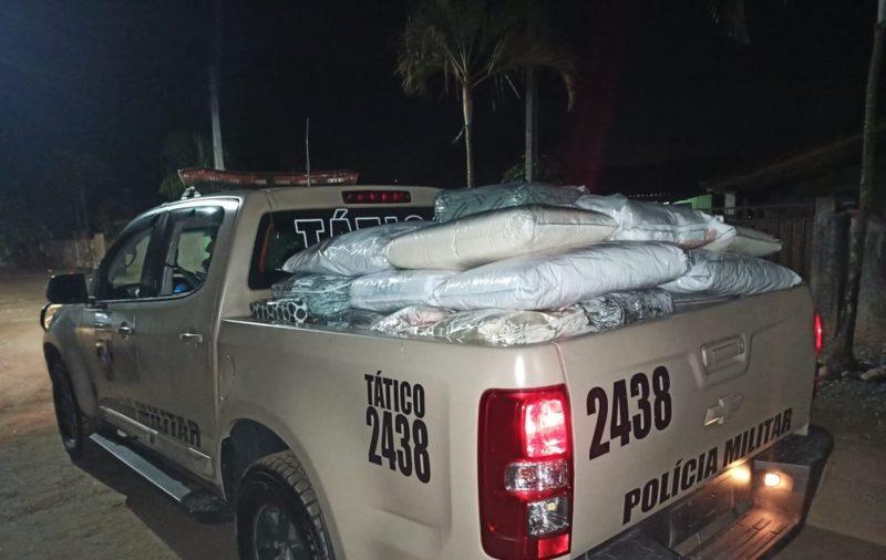 Polícia ainda encontrou produtos em outras três residências – Foto: Polícia Militar/Divulgação