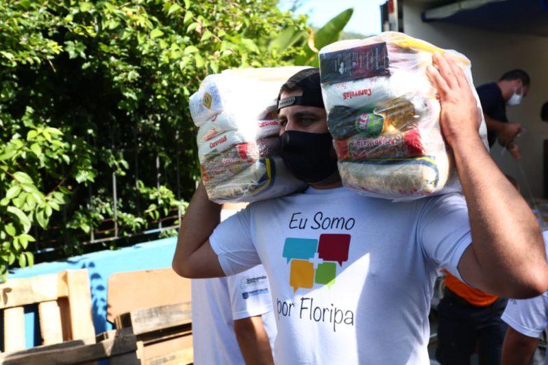Campanha Somando contra o Covid 19 já arrecadou mais de 65 toneladas de alimentos não perecíveis – Foto: Fundação Somar/Divulgação/ND