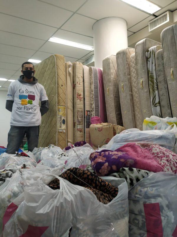 Cobertas doadas à Fundação Somar no último ano – Foto: PMF/Divulgação/ND