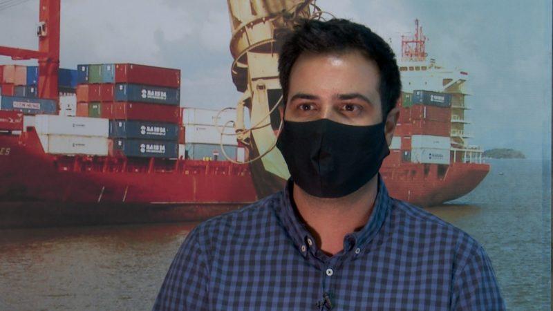 João Ricardo de Andrade Chaves, presidente da Associação Empresarial de São Francisco do Sul – Foto: Reprodução vídeo/ND
