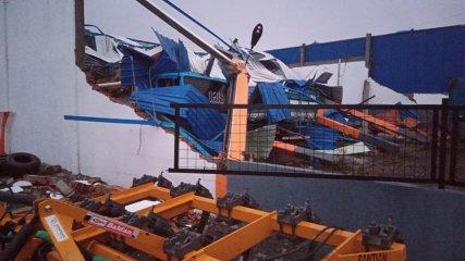 Tornado provocou destruição em Santa Catarina - Rádio Capinzal/Reprodução/ND