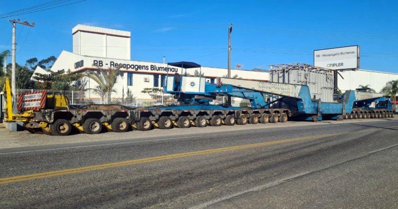 Escolta de transformador causará lentidão em rodovias de SC nesta quarta – Foto: Divulgação/PRF SC
