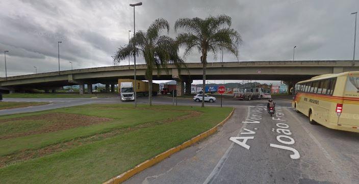 Desapropriações no trevo da BR-101 entre Itajaí e Brusque já tem data para iniciar – Foto: Google/Reprodução