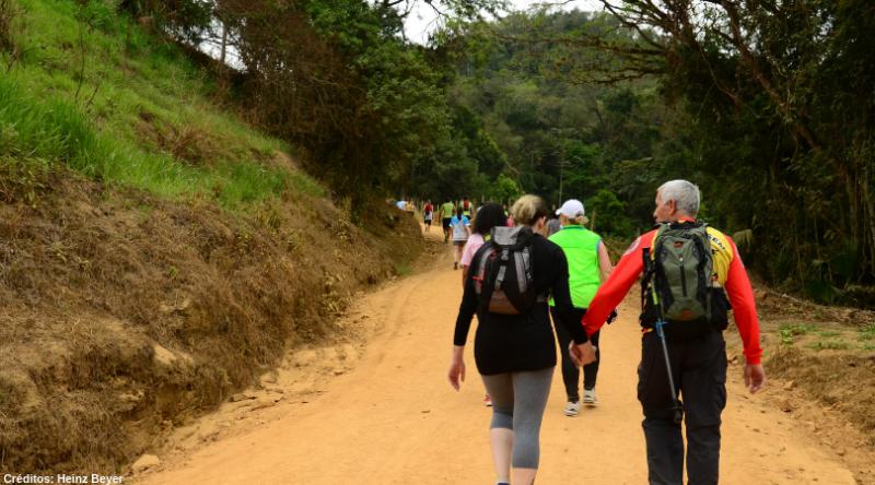 Trilha no Morro do Barão – Foto: Portal de turismo de Indaial/Heinz Beyer/ Divulgação/ ND