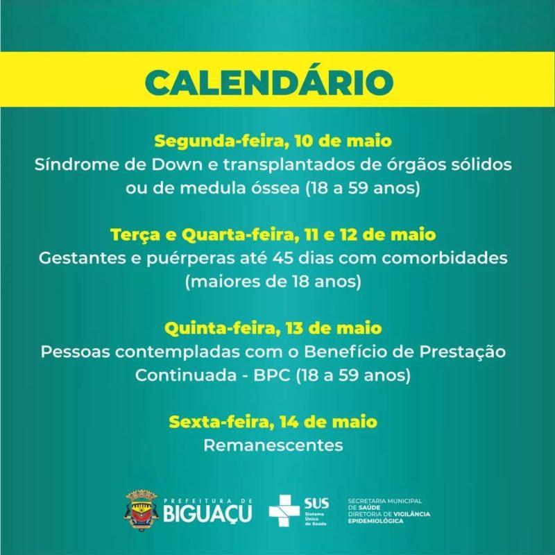 Biguaçu dá continuidade à vacinação contra Covid-19 – Foto: Reprodução/Prefeitura de Biguaçu