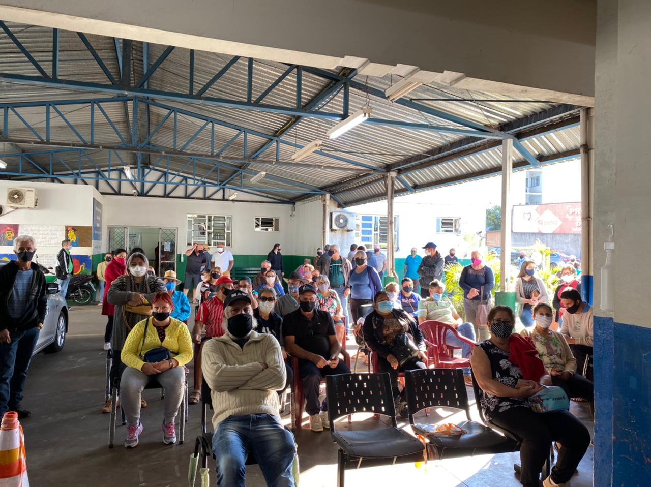 Mais de 3 mil idosos foram vacinados no último sábado (1º) - Prefeitura de Chapecó/Divulgação ND