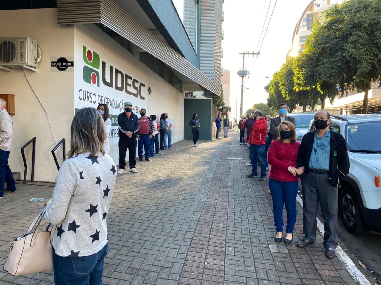 Horários para receber a dose da vacina são das 8h10 às 11h15 e das 13h10 às 16h20 - Prefeitura de Chapecó/Divulgação ND