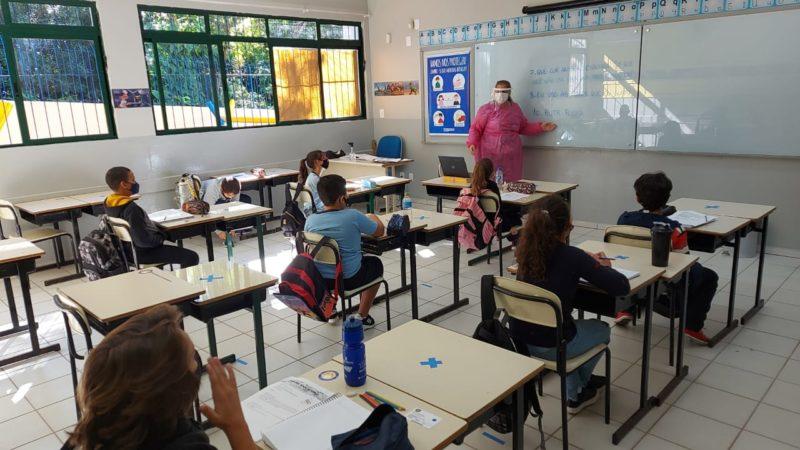 Aulas presenciais foram retomadas integralmente nesta segunda-feira (31) – PMF/Divulgação/ND