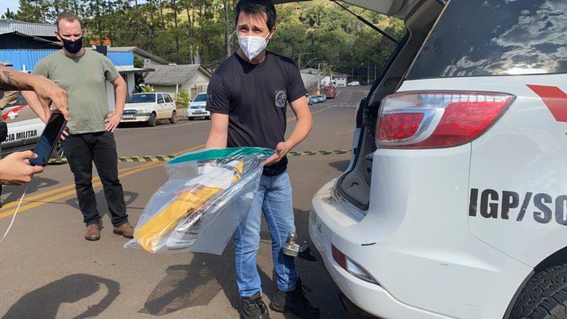 Arma utilizada passará por perícia. – Foto: Willian Ricardo/NDMais