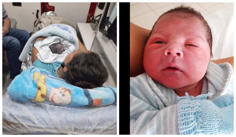 nascimento de Gael, com 49 centímetros e peso 3,475 quilos,