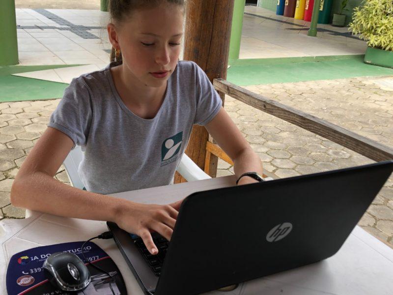 Os alunos contam com atividade externa – Prefeitura de Gaspar/Divulgação