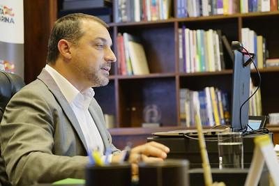 Carlos Moisés testou negativo para a Covid-19 – Foto: Peterson Paul/Secom/Divulgação/ND