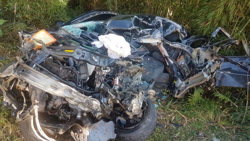 Grave acidente ocorreu na manhã desta quarta-feira (2) – Foto: Corpo de Bombeiros Militar/Divulgação