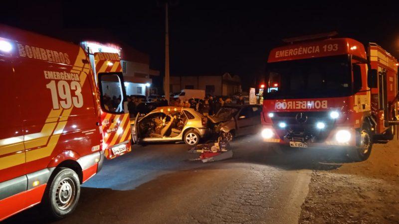 Acidente em Ituporanga deixou duas pessoas mortas – Foto: Bombeiros/Divulgação