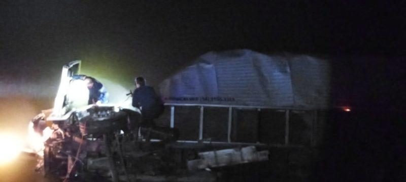 Motorista foi encontrado já sem vida no interior do carro – Foto: Corpo de Bombeiros Militar/Divulgação