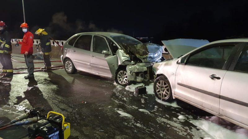 Acidente entre carros na Ponte do Trabalhador deixou um homem morto – Foto: Redes sociais
