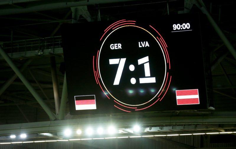 Alemanha vence amistoso por 7×1 e relembra Copa do Mundo no Brasil – Foto: Reprodução/Twitter