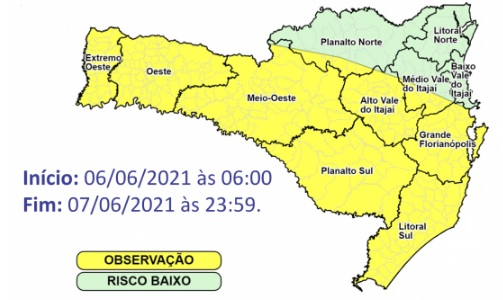 Alerta Defesa Civil – Foto: Defesa Civil/Divulgação/ND