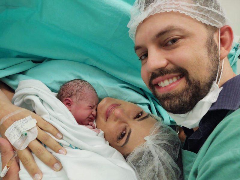 Amália, a bebê n° 1000, nasceu na última semana, em Brusque – Foto: Imigrantes Hospital e Maternidade/Divulgação