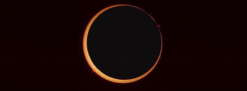 """Eclipse formará """"anel de fogo"""" ao redor da Lua nesta quinta-feira - NASA/Stefan Seip"""