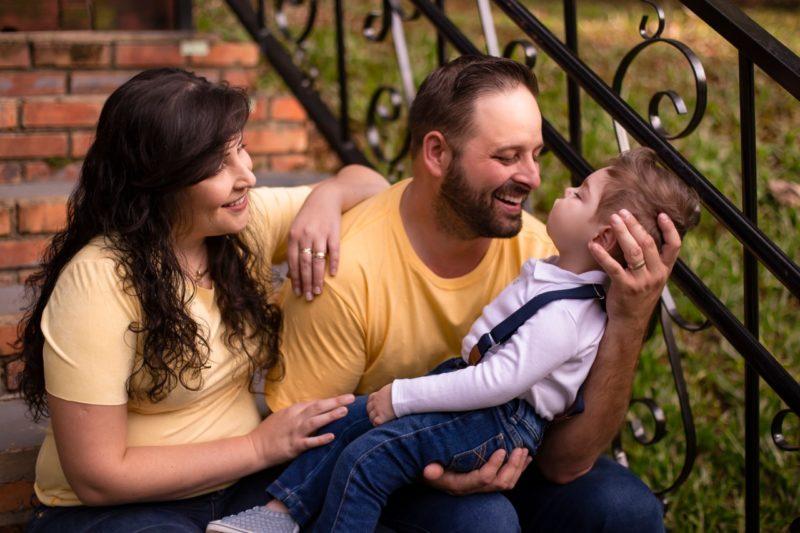 Adriana e Diego aguardaram com alegria a chegada do filho. – Foto: Arquivo Pessoal/ND