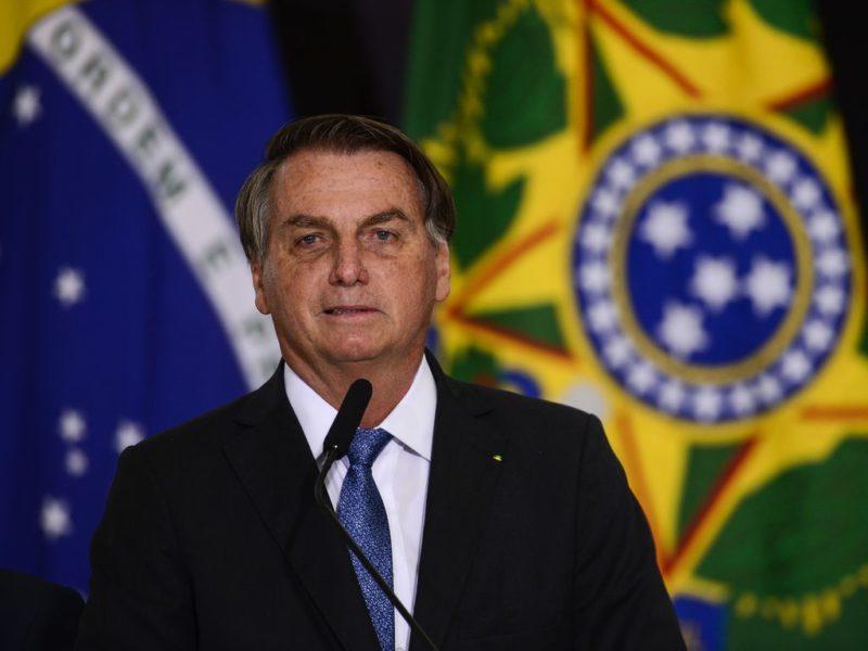 O presidente Jair Bolsonaro durante cerimônia de assinatura de acordo com os EUA para participar do Programa Lunar Nasa Artemis. – Foto: Marcelo Camargo/Agência Brasil/ND