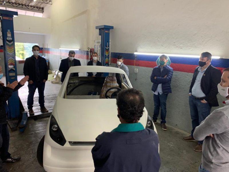 Comitiva da cidade conheceu unidade da startup M3E3 em São Paulo – Foto: Divulgação/SATC/ND