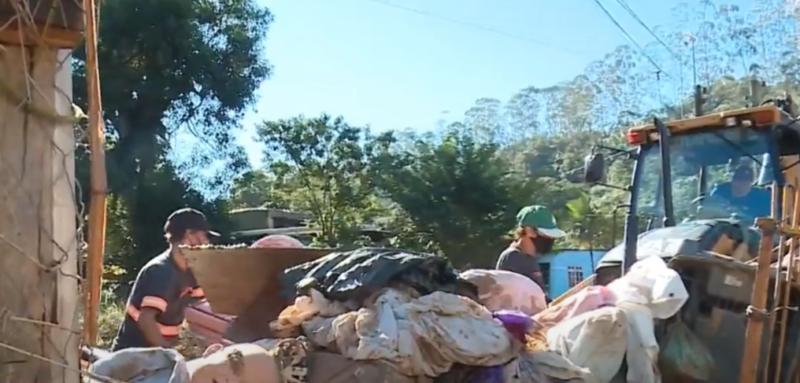 Bairro Brilhante foi o mais afetado pela enxurrada no município – Foto: Reprodução/NDTV RecordTV