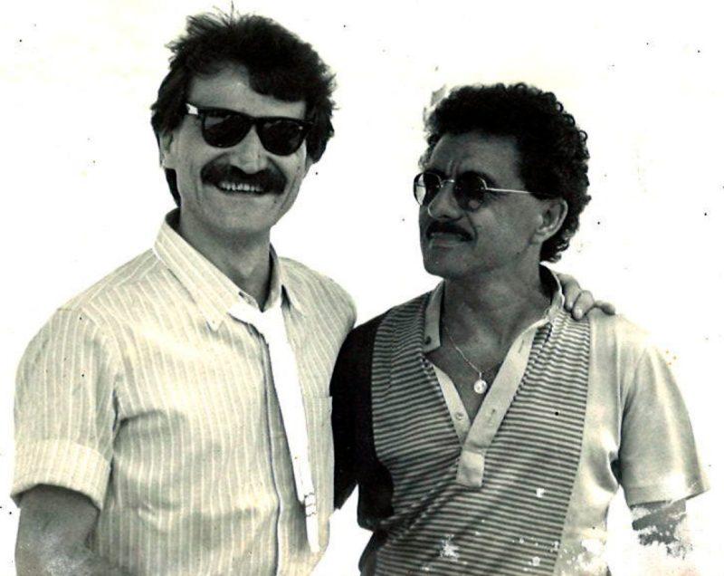 Belchior e o professor José Gomes Neto em Florianópolis – Foto: Clovis Medeiros/Arquivo Pessoal/ND