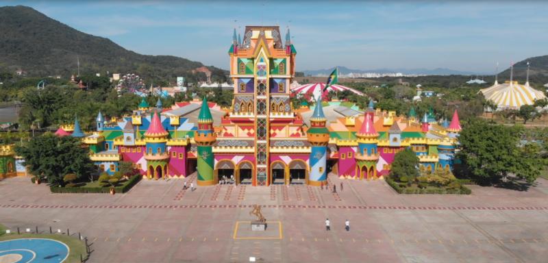 Castelo das Nações, entrada do parque Beto Carrero World – Foto: Beto Carrero World/Divulgação