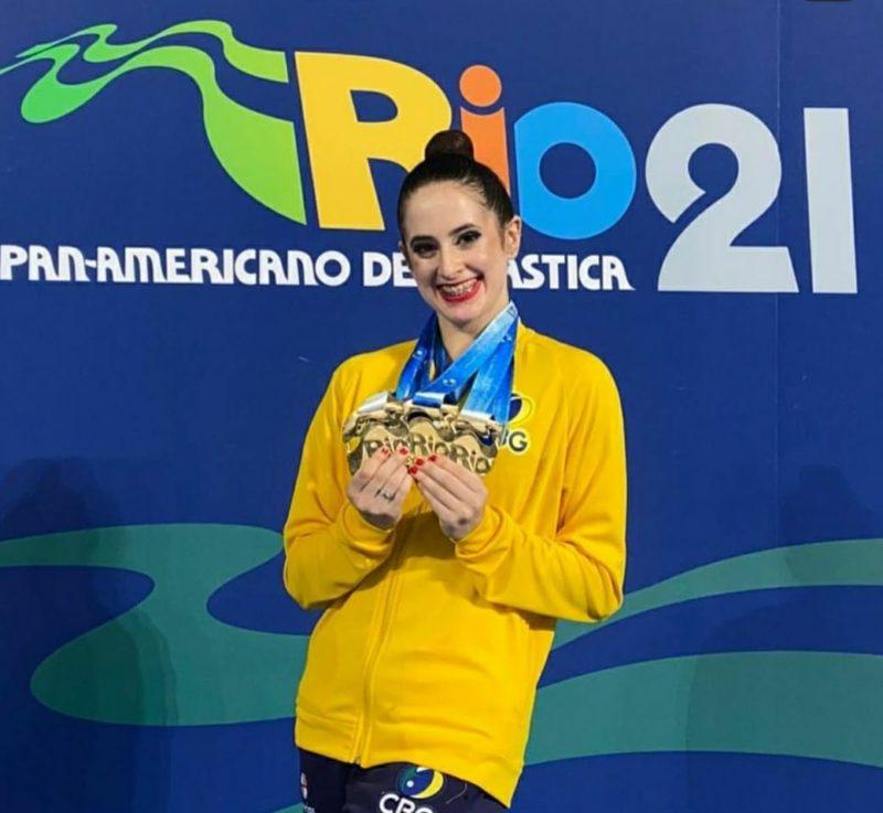 Beatriz Linhares competirá no Japão com seleção nacional de ginástica rítmica – Foto: Divulgação/ Udesc/ ND