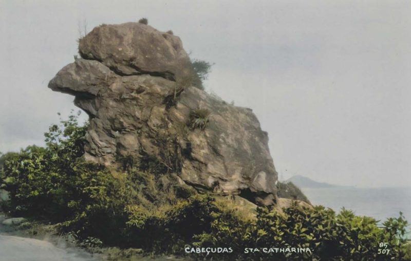 Antes: um dos pontos mais populares de Itajaí é o Bico do Papagaio, que fica na Estrada Geral de Cabeçudas – Foto: Itajaí de Antigamente/Facebook/Reprodução