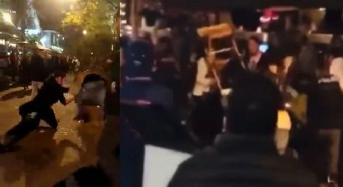 Vídeos mostram pancadaria entre cliente e garçom em restaurante – Foto: Reprodução/ND
