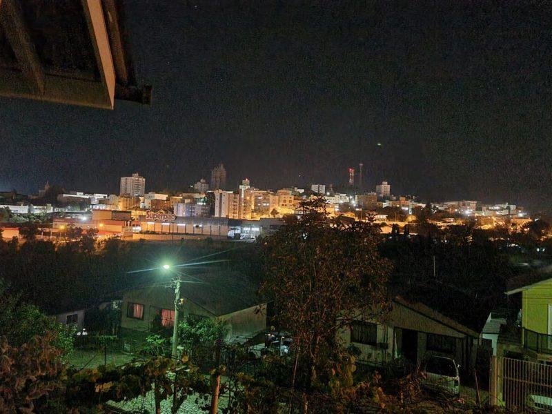Por volta das 22h30 a energia na cidade de Caçador foi restabelecida depois de 95 horas – Foto: Marlise Groth Mem/Divulgação/ND