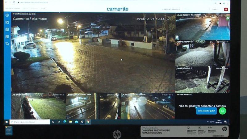 Sete câmeras já foram instaladas na cidade – Foto: Juliano Masselai/Divulgação