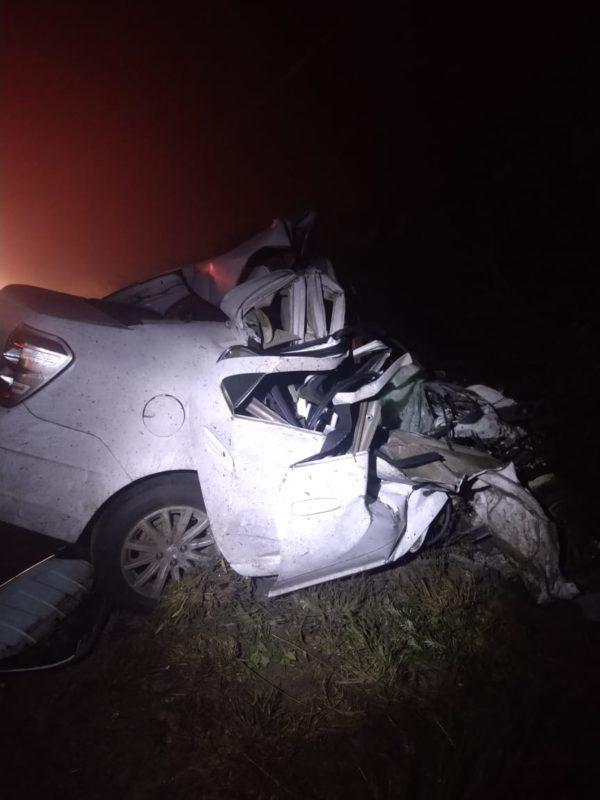 Motorista não resistiu aos ferimentos e morreu no local – Foto: PMRv/Divulgação