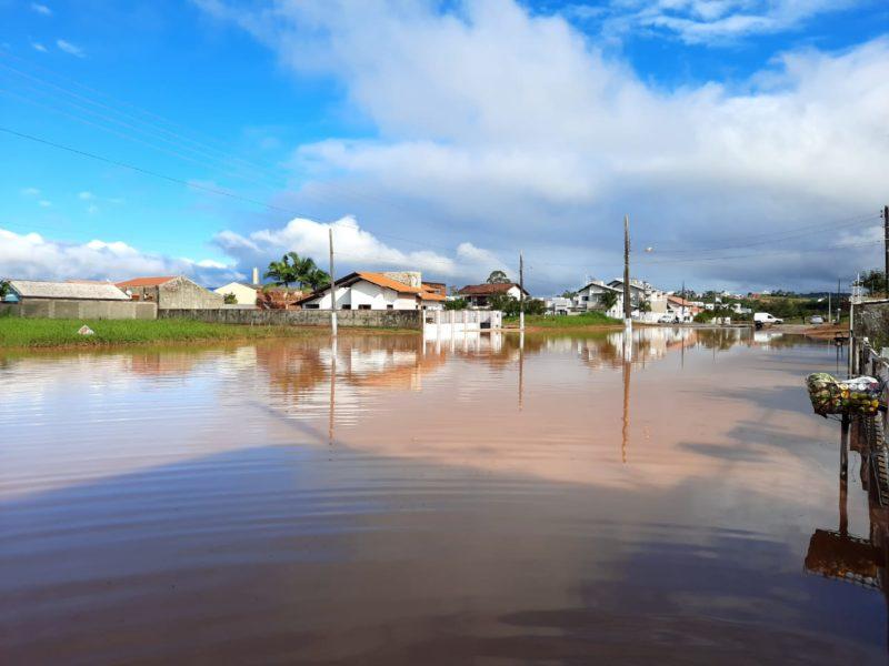 Canelinha foi o município da Grande Florianópolis mais afetado pela enchente – Foto: Karina Koppe/NDTV