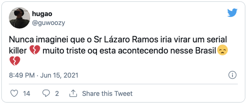 Lázarado Ramos: internautas flagram vacilo de apresentador – Foto: Reprodução