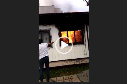 Incêndio ocorreu na tarde desta sexta-feira (18). – Foto: Reprodução/Redes Sociais