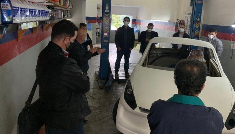 Um protótipo de carro elétrico está em fase de pré-elaboração. – Foto: Divulgação