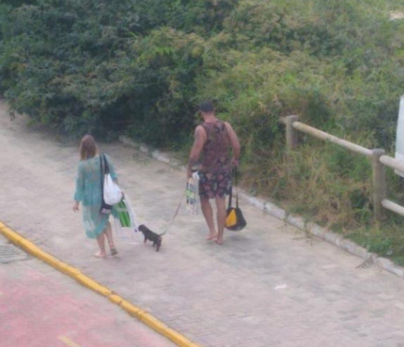 Casal foi embora após chamada de atenção – Foto: Divulgação/ND