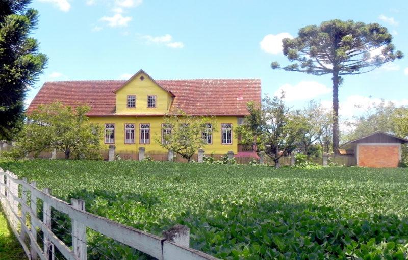 Casarão Domit foi construído há mais de 90 anos em Irineópolis – Foto: Prefeitura de Irineópolis/Divulgação
