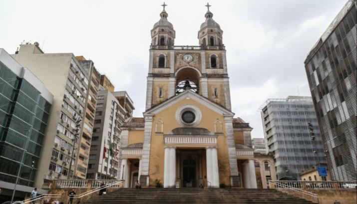 A Catedral Metropolitana de Florianópolis, que terá missa de Corpus Christi nesta quinta-feira (3)