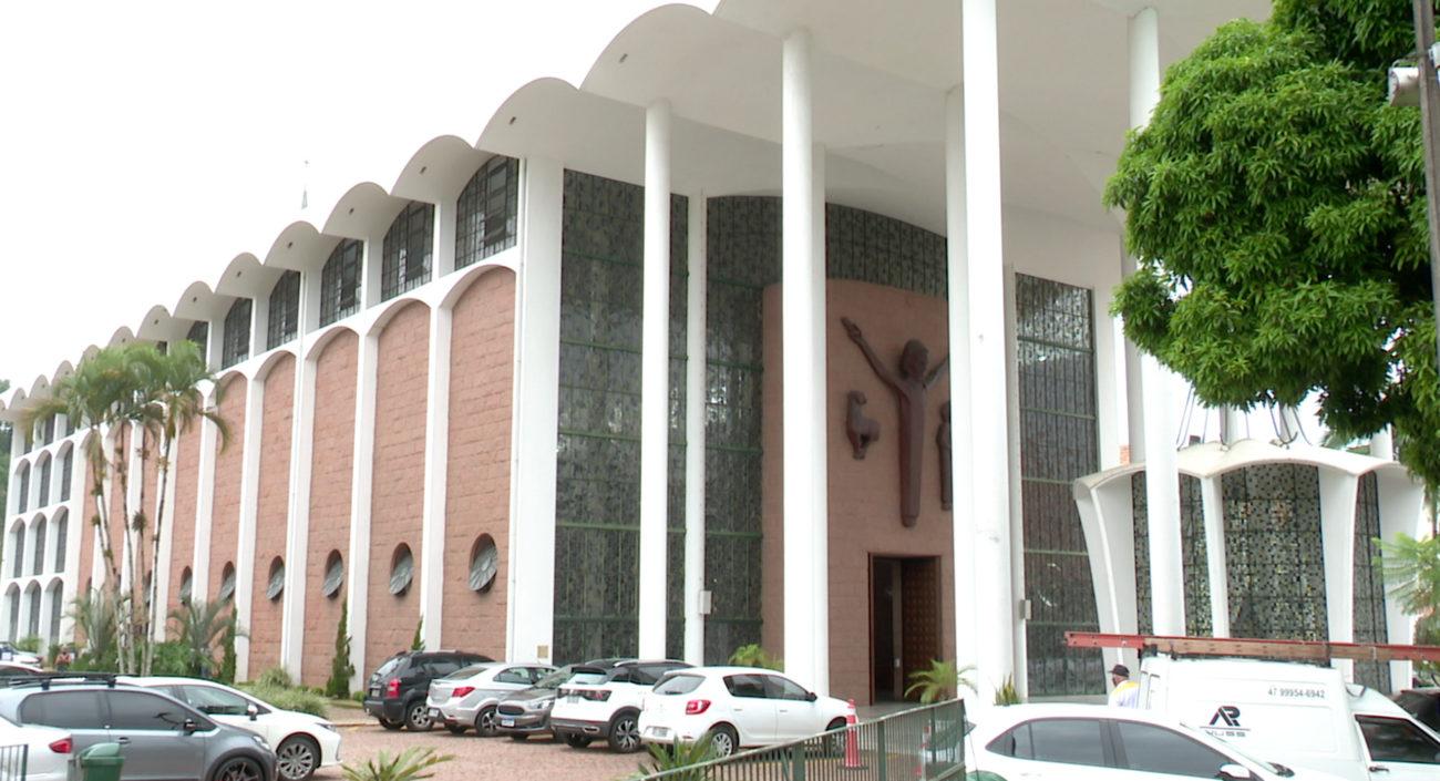 Catedral São Paulo Apóstolo, em Blumenau - Reprodução/NDTV