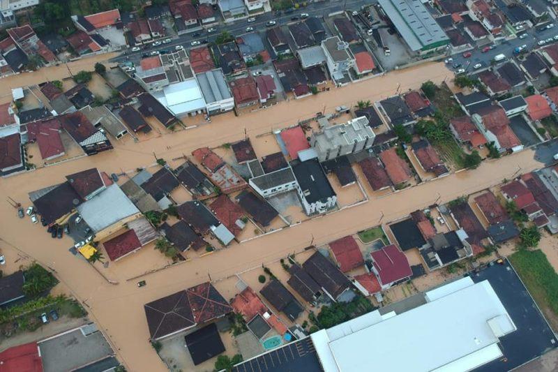 Brusque decreta situação de emergência por causa das chuvas – Foto: Divulgação/Prefeitura de Brusque