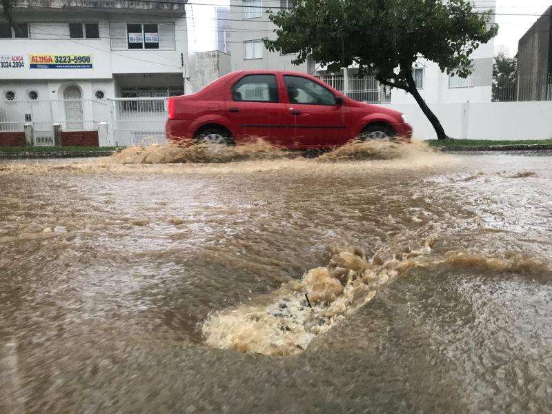 Chuvas dos últimos dias causou transtornos em Florianópolis – Foto: Leo Munhoz/ND