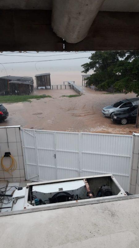 Imaruí, no Sul de Santa Catarina, amanheceu tomada pelas chuvas – Foto: Divulgação/ND