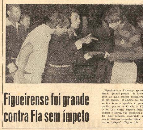 Flamengo foi a atração no Adolfo Konder. Figueirense foi elogiado pelo empate em 0 x 0. – Foto: Jornal O Estado/Hemeroteca SC