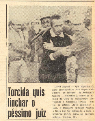Figueirense e Hercílio Luz não terminou. O pau pegou e o juizão saiu escoltado pela Polícia Militar. – Foto: Acervo Jornal O Estado